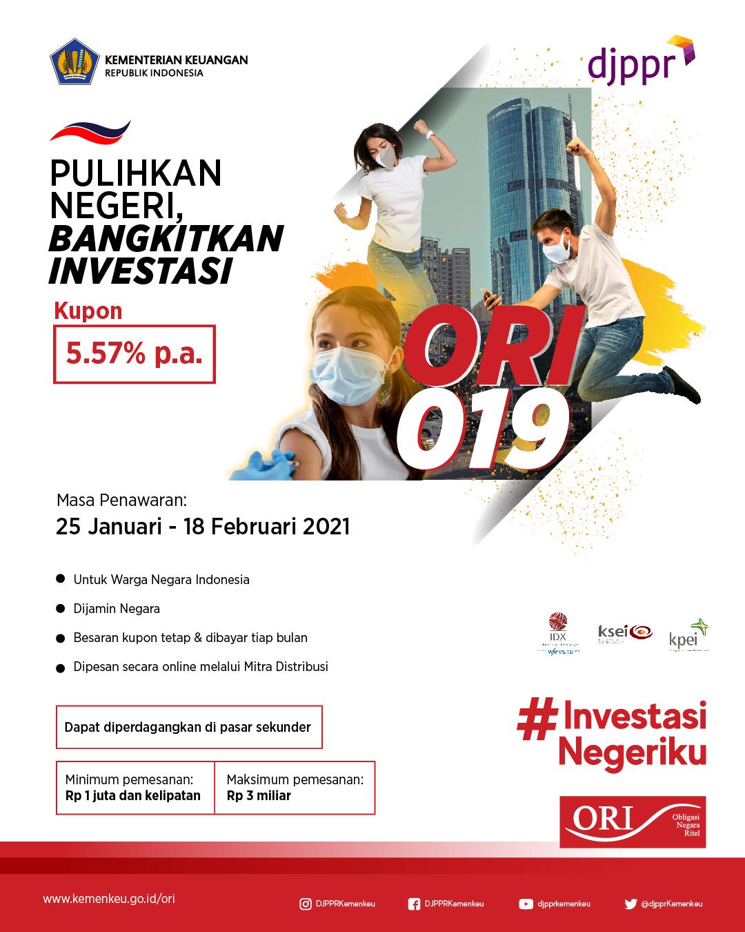 ORI019, Investasi Mager yang Aman untuk Pulihkan Negeri